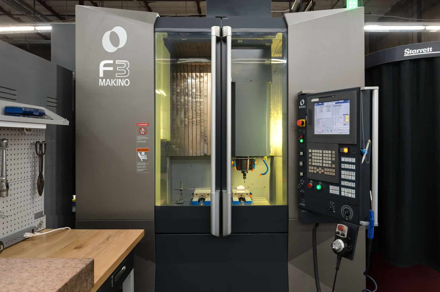 Makino CNC machining center workstation in our Bay Area injection mold making tool room